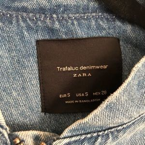 Jean Jacket from Zara Size Small. Good condition